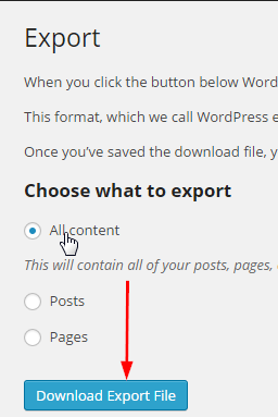 Export All Content